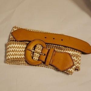 "Lauren Ralph Lauren braided jute belt 51.5"""